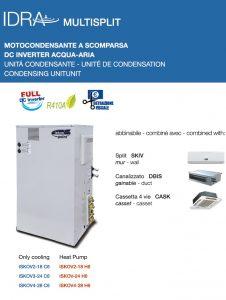 CLIMATIZZATORI DRA Motocondensante-Multisplit a scomparsa-DC-INVERTER Acqua-aria