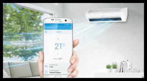 CLIMATIZZATORE SAMSUNG WINDFREE sempre-sotto-controllo con l'app Smart Home