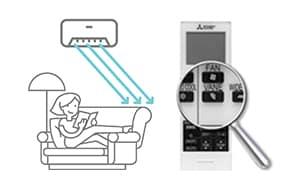 Climatizzatori Mitsubishi Electric - Linea PLUS MSZ-AP Migliore distribuzione dell'aria-Funzionamento fino a soli 19/dBA
