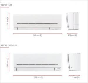 Climatizzatori Mitsubishi Electric - Unità interne-MSZ-AP-estremamente compatte